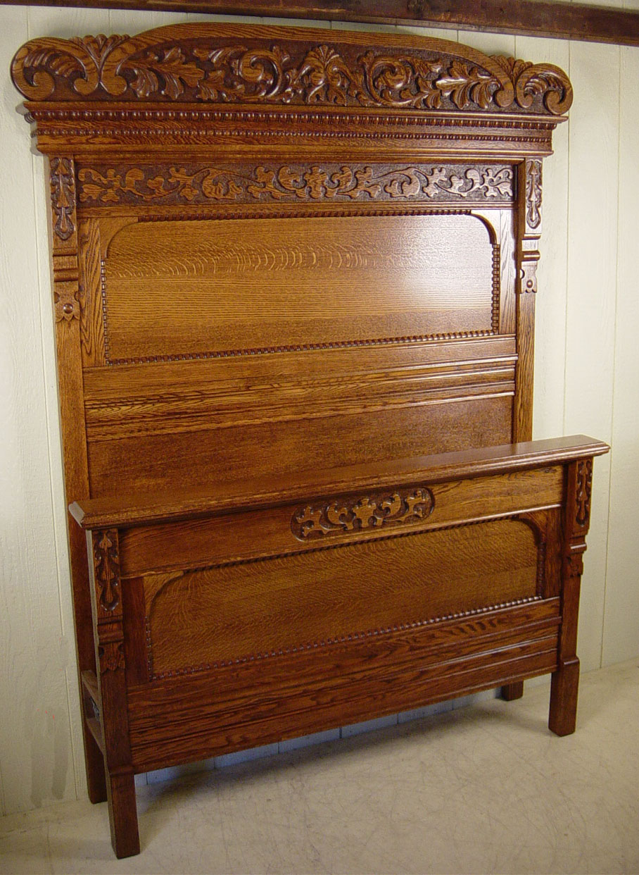 Ful Victorian Oak Bed Quartersawn Wishlist In 2019 Vintage Furniture Unusual Beds