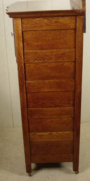 Rare Oak Bonnet Lingerie Chest Mirror