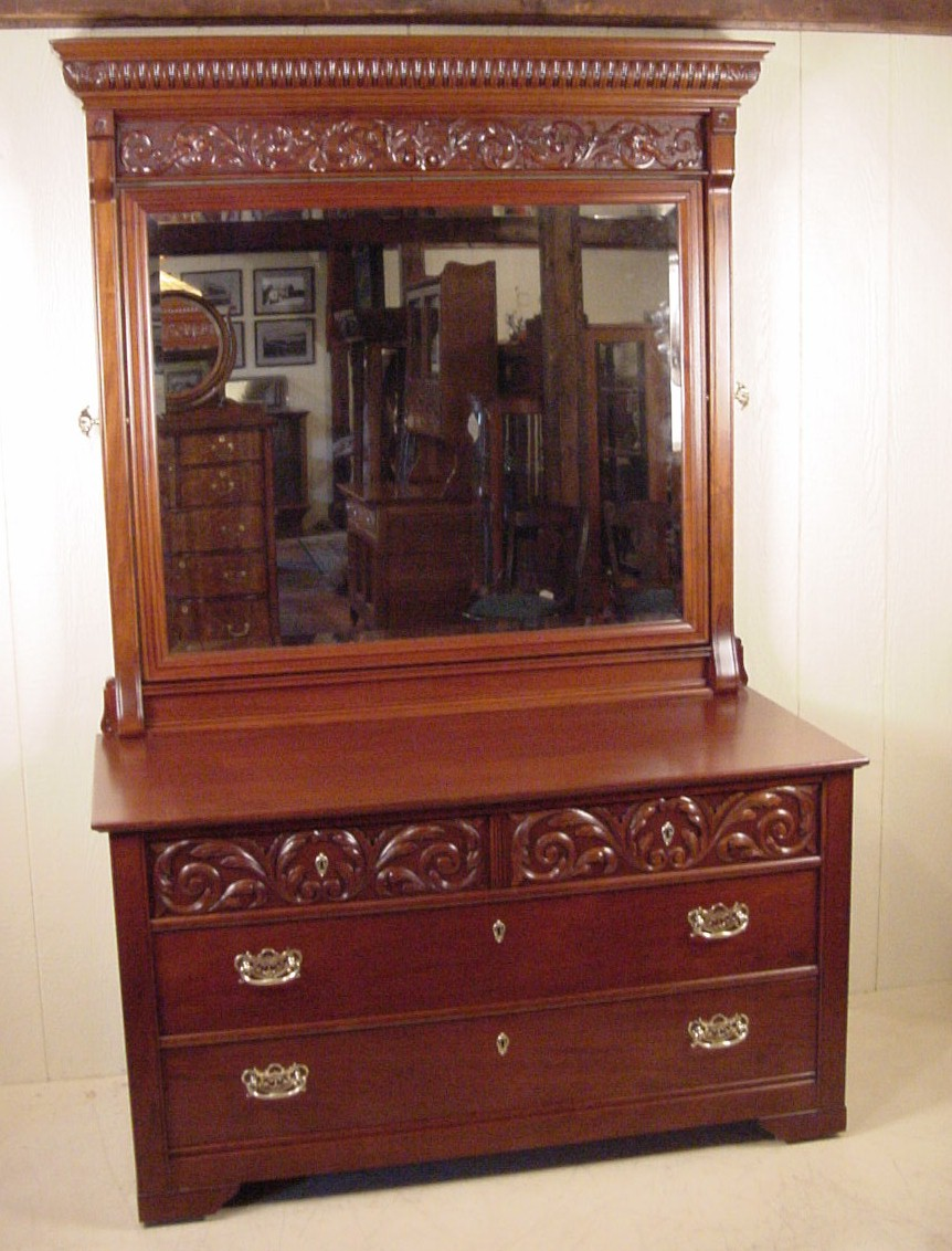 victorian mahogany 2 piece bedroom set
