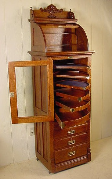 Harvard Antique Oak Dental Cabinet W