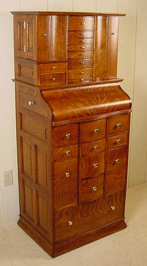 Deluxe Model Antique Oak Ransom Amp Randolph Dental Cabinet