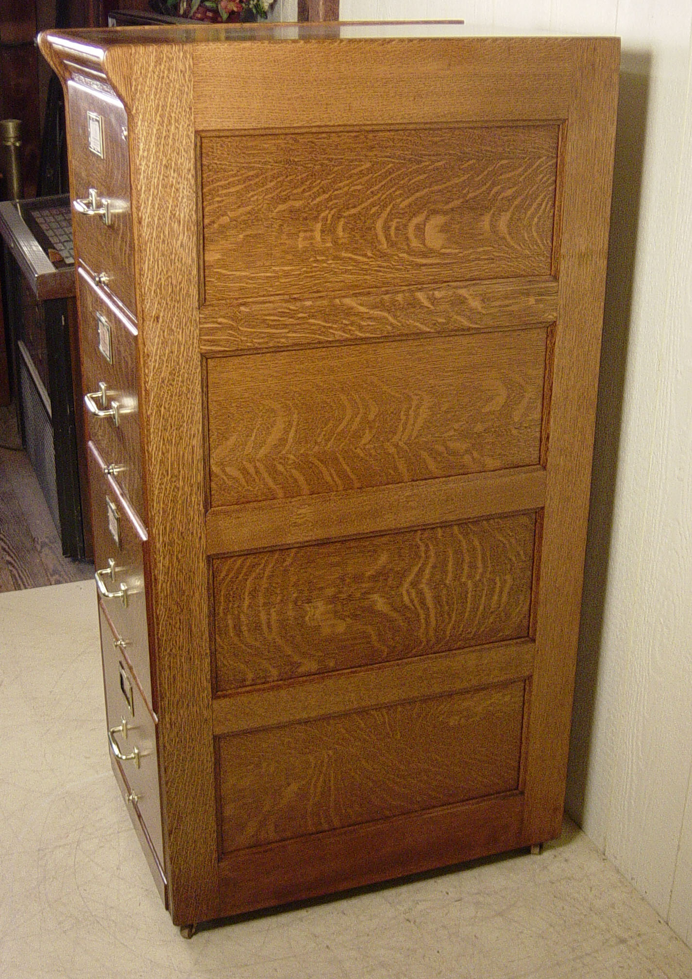 Legal Size Oak File Cabinet Signed Yawman Erbe