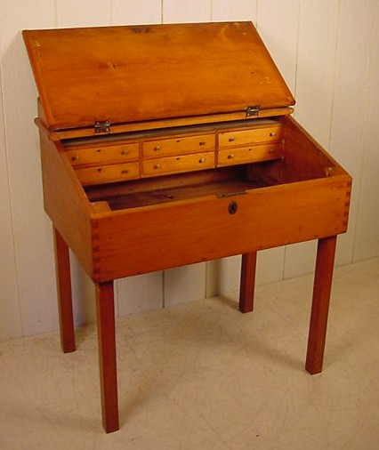 - Early Pine Slant Top Desk