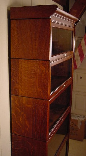 5 Section Oak Barrister Bookcase
