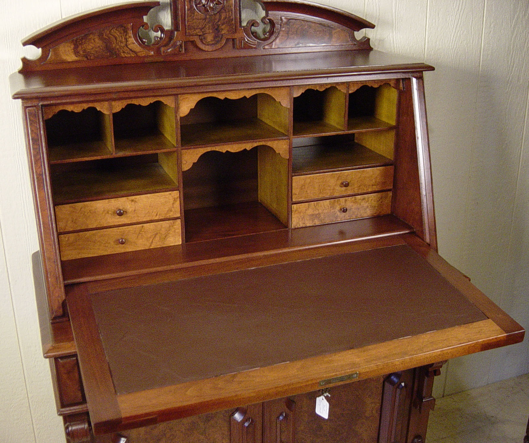 dresser cherry inf front empire drop butlers chest secretary bedroom antique desk lgw