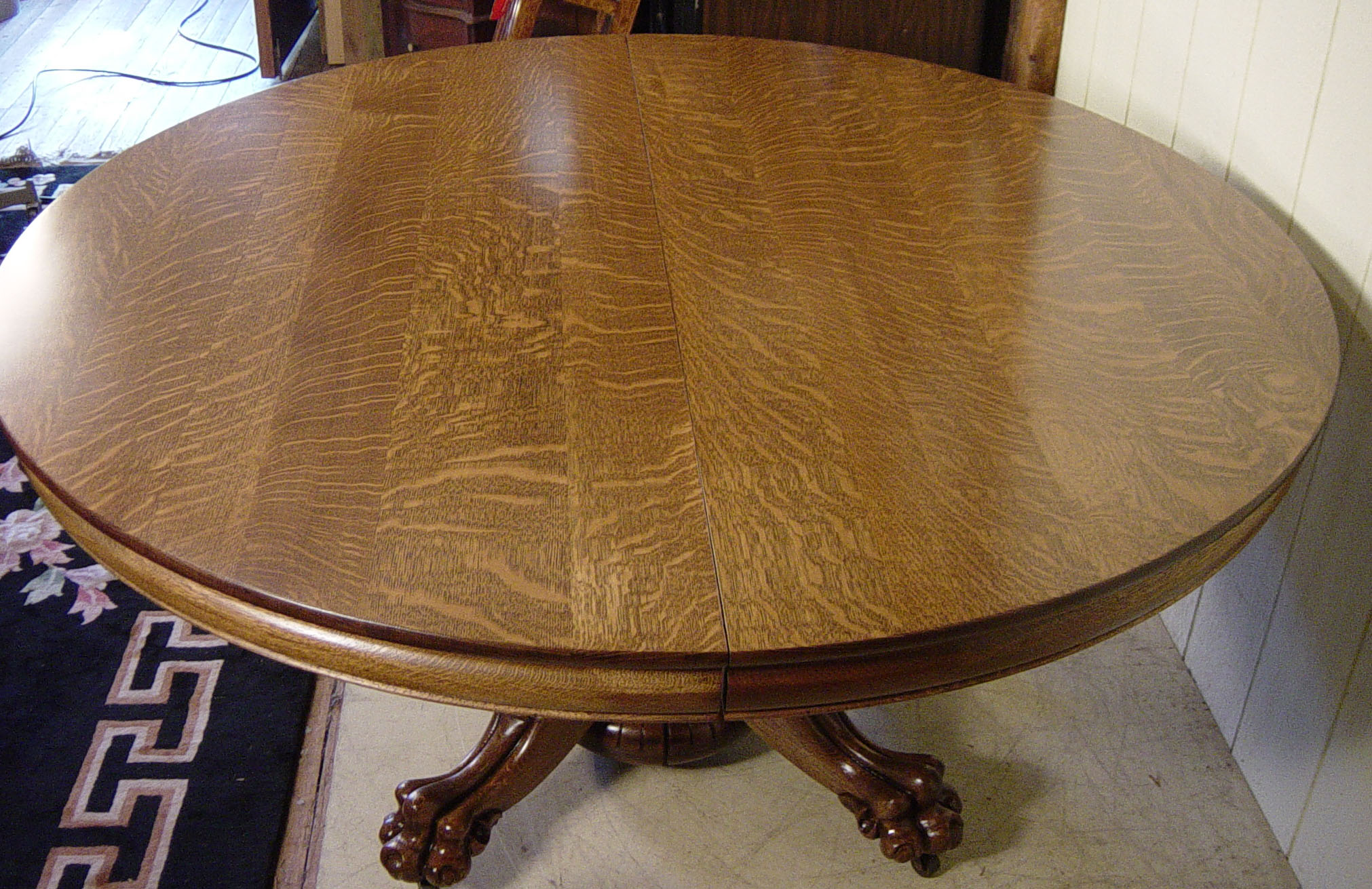 60quot round oak quothastings table coquot dining table with 8