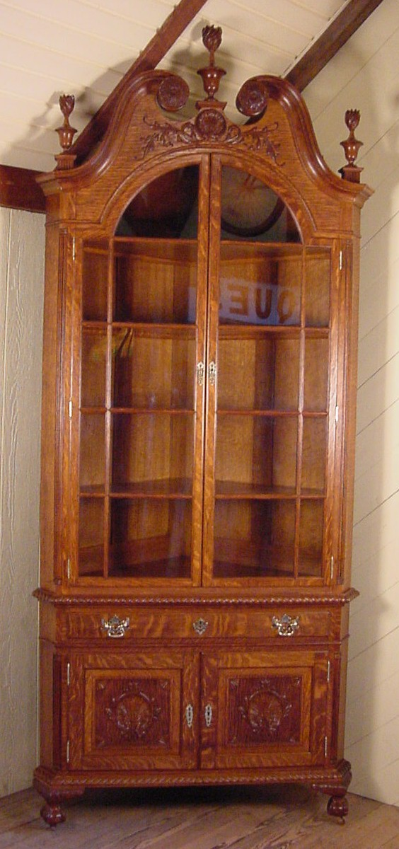Great Oak Corner China Cabinet 564 x 1200 · 169 kB · jpeg
