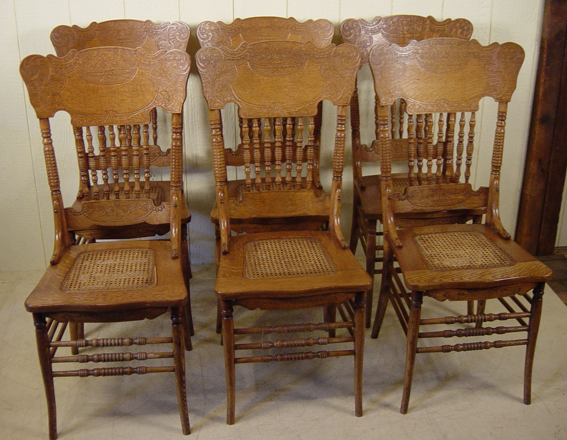 Pressed Back Dining Chairs ~ Antique pressed back chairs best decor ideas