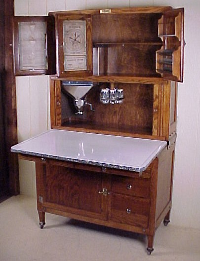 Reproduction hoosier cabinet for sale ask home design for Reproduction kitchen cabinets