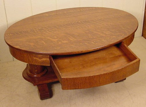Stupendous Oval Oak Coffee Table Theyellowbook Wood Chair Design Ideas Theyellowbookinfo