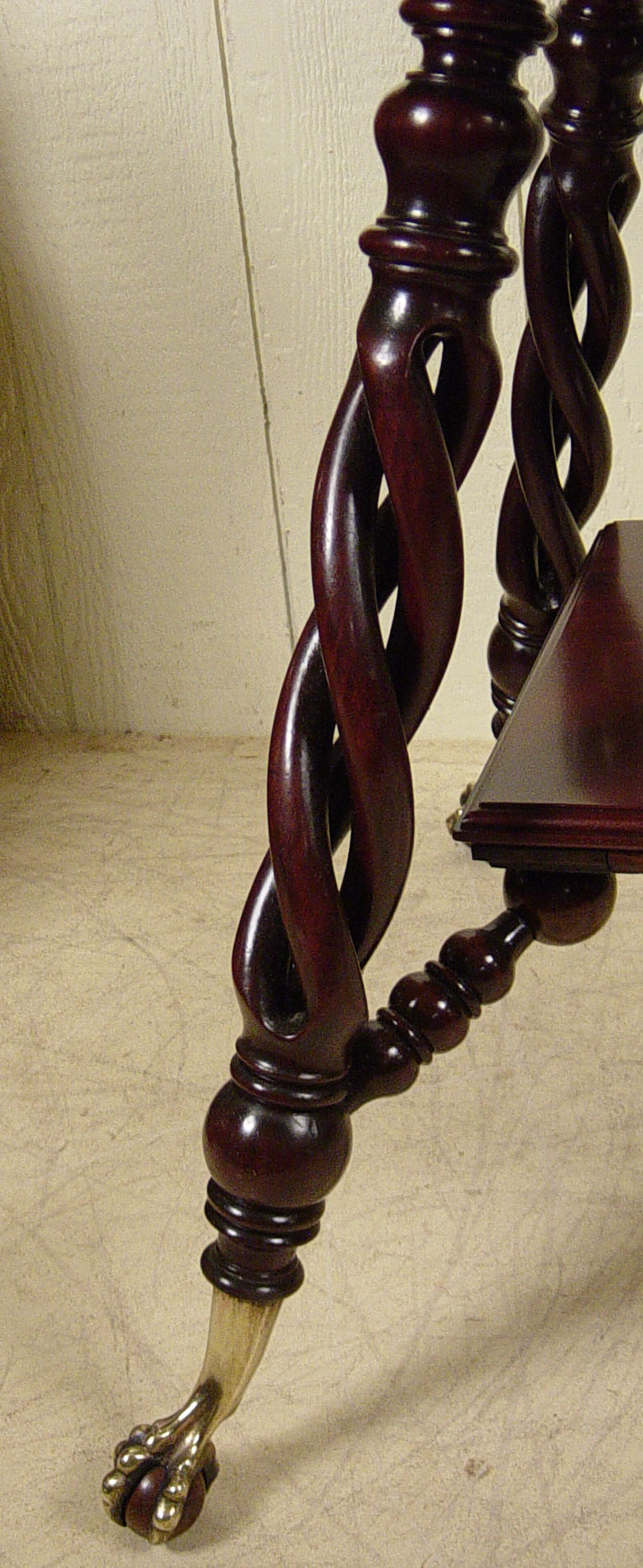 Merklen Brothers Mahogany Square Lamp Table