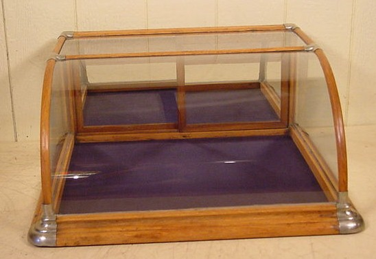 23.395 Wonderful Antique French Mahogany  Glass Display Cabinet