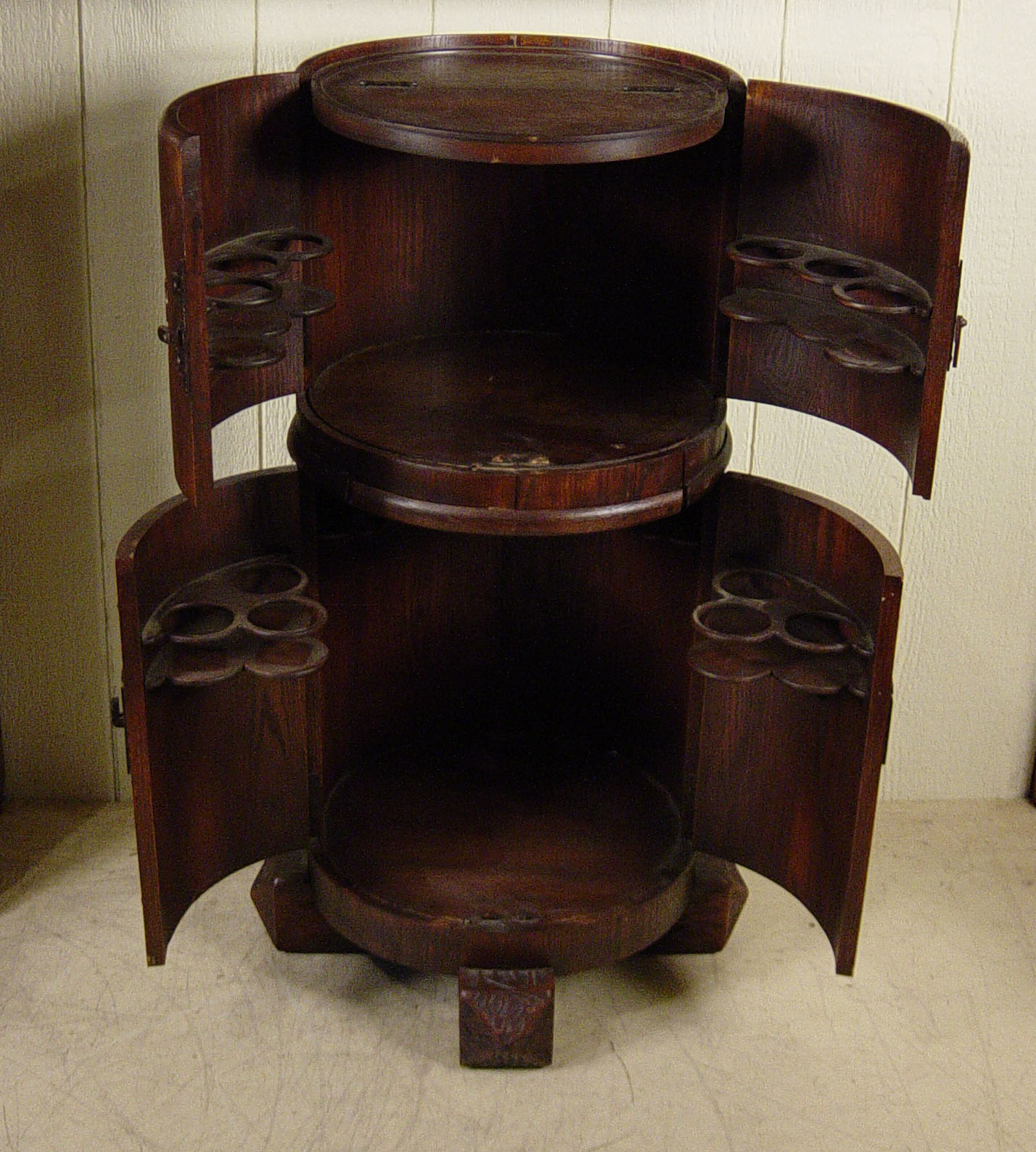 Round Barrell Shaped Liquor Cabinet